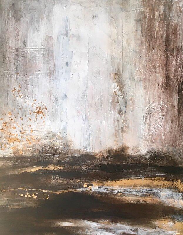Akrylmålning End of october, Gunilla Tuvin