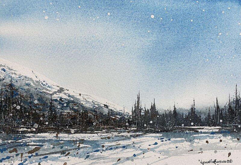 Akvarell Fjäll, Lynn Hofmann