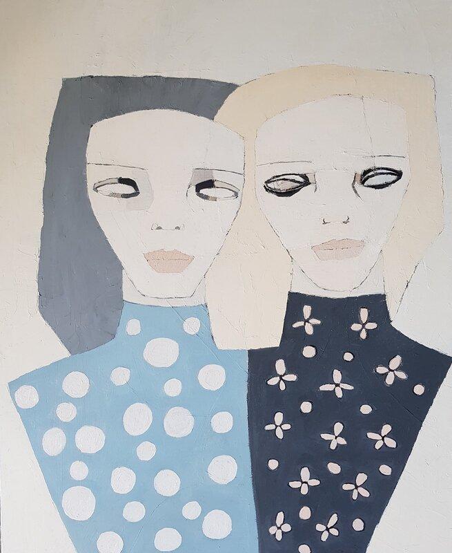 Oljemålning I see through you, Cecilia Ciscar