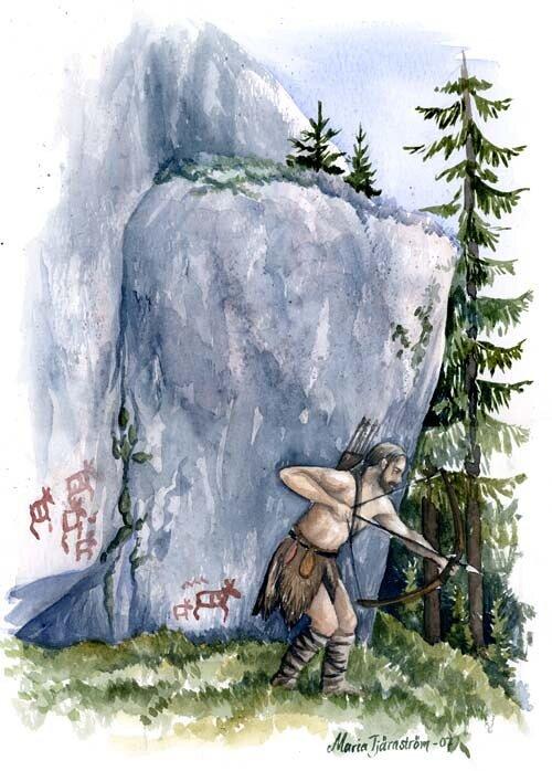 Älgjakt vid Högberget, Ramsele 4000 BC
