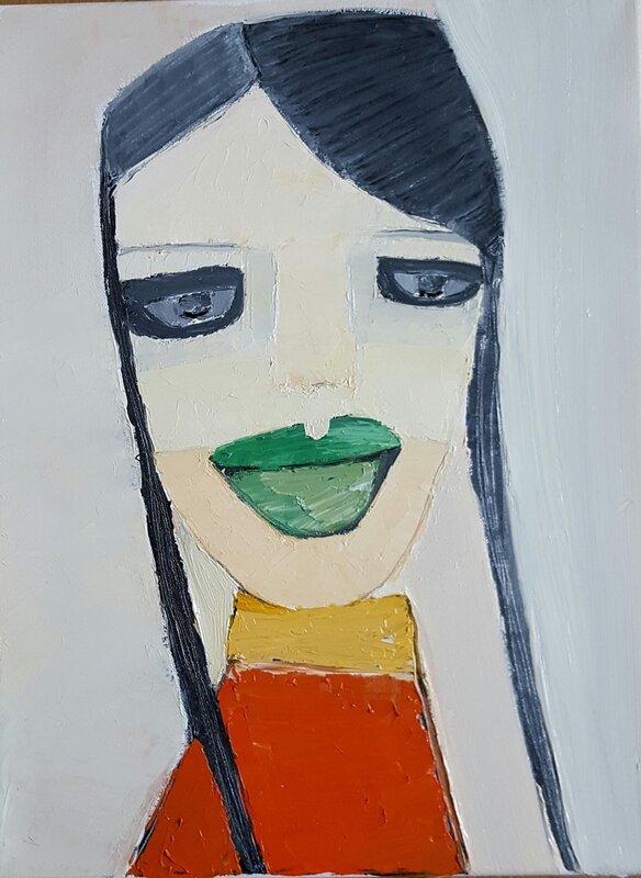 Green lipped girl