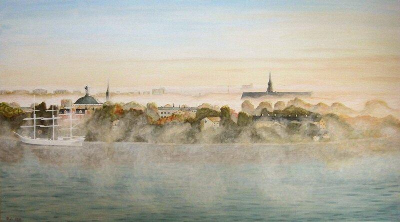 Skeppsholmen, en höstmorgon