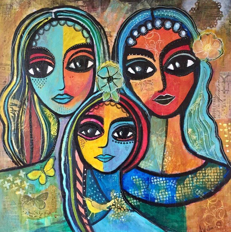 Tre tjejer.