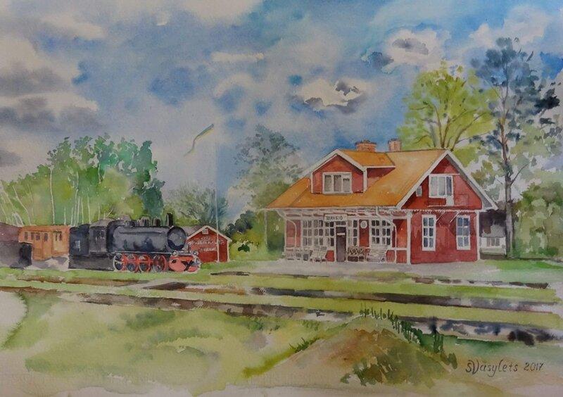 Tågstationen i Tärnsjö