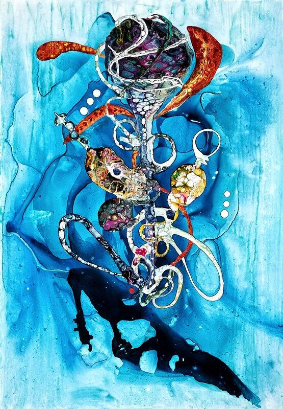 """Deep blue florals"""""""