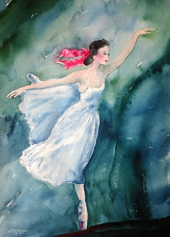 Ballet study on white