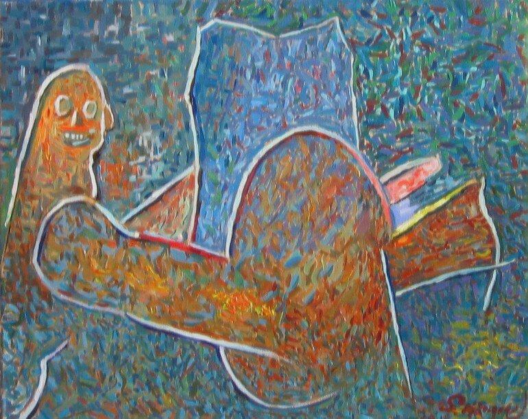 Kvinna2 Oljemålning