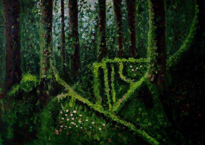 Mosstäckta rötter