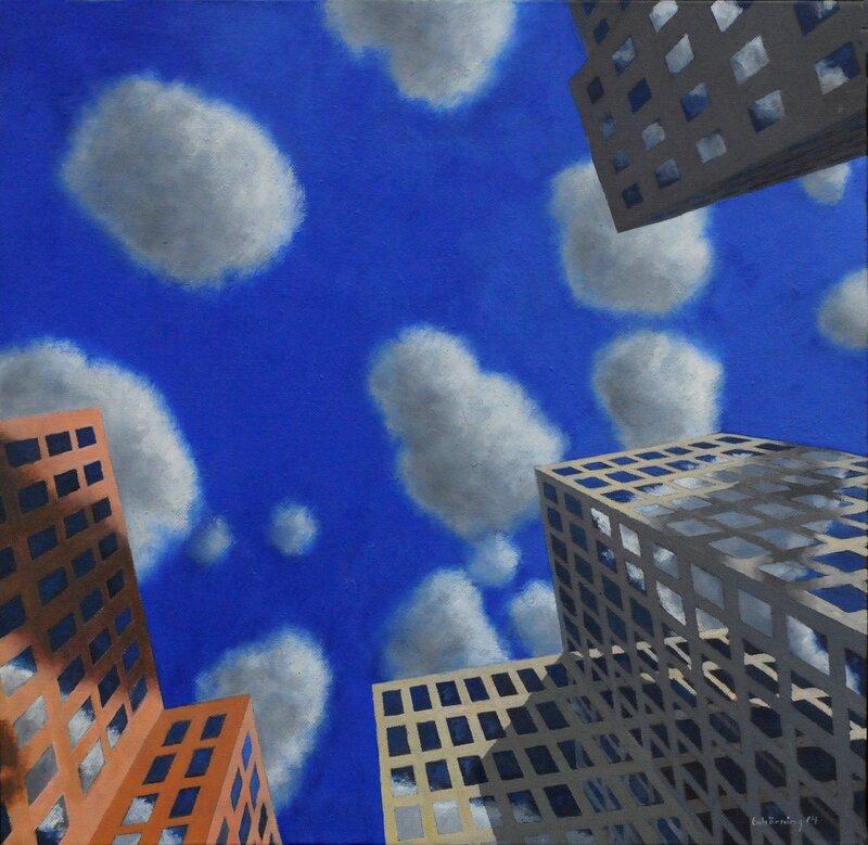 Skyskrapor och Moln