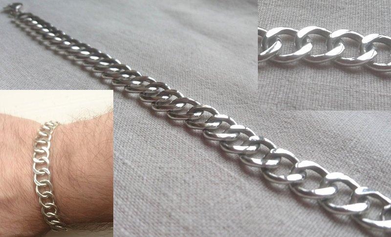 Pansarkedja i silver