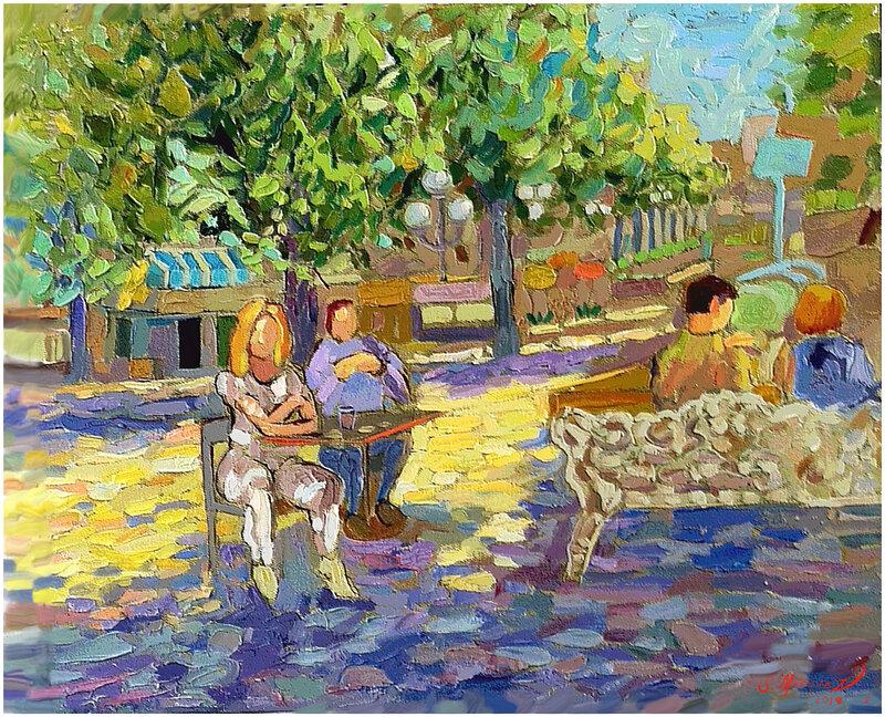 Sol i Kungsan  Digital målning