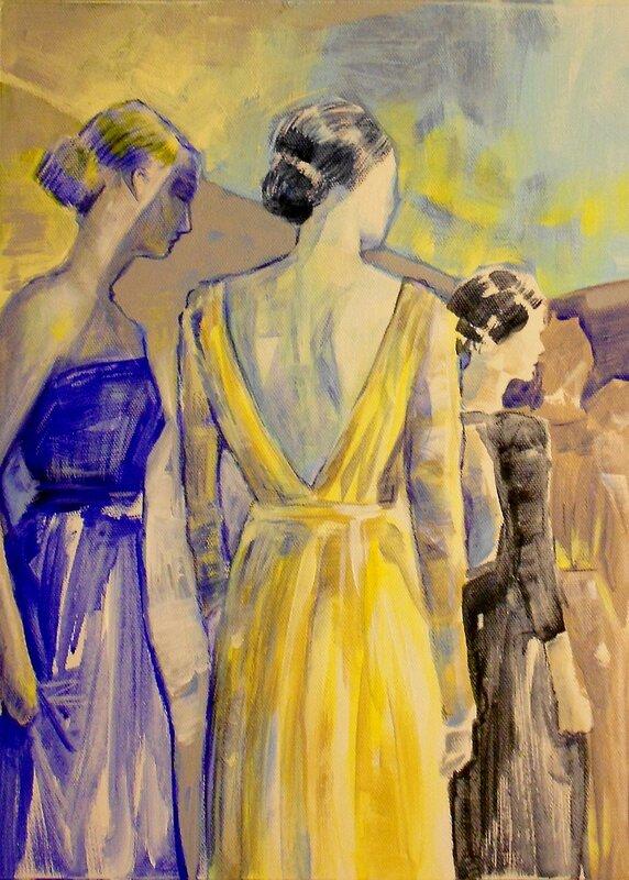 Akrylmålning Walking out, Daniel Vandinja
