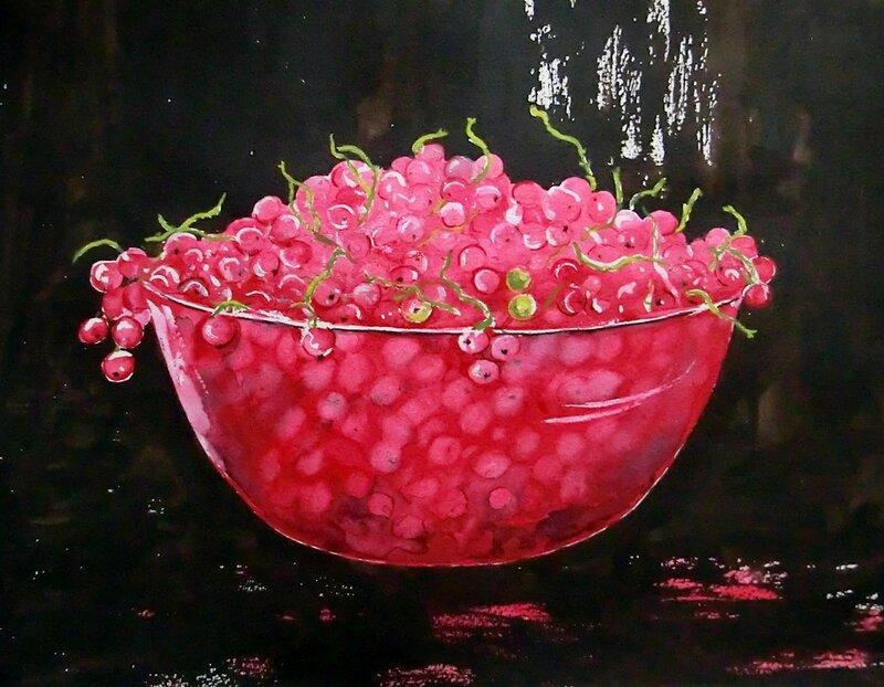 A bowl of currants
