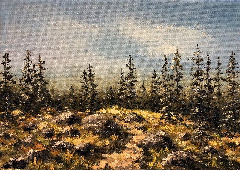 Oljemålning Några kvar, Helen Boreson Holmberg
