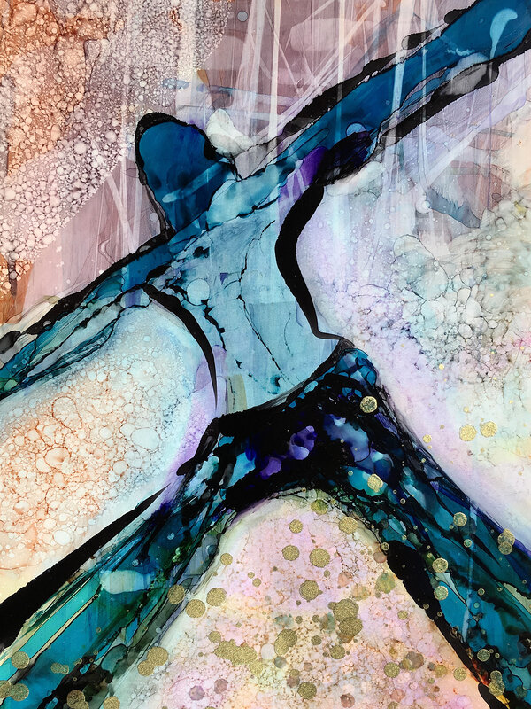 Blå dansare