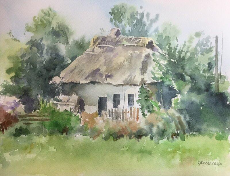 Gammalt ukrainskt hus