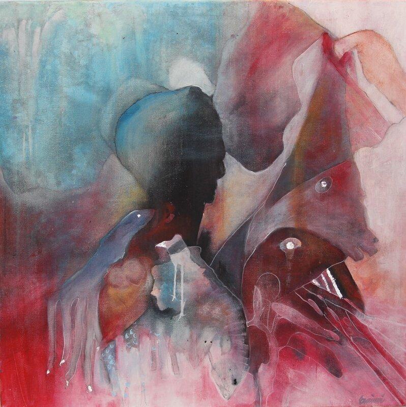 Akrylmålning Djurparken, Eva Wirén