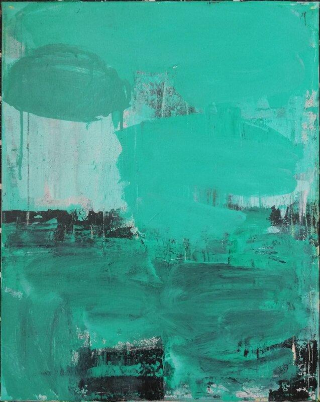 Akrylmålning Den magiska dammen, Alicia Larsson
