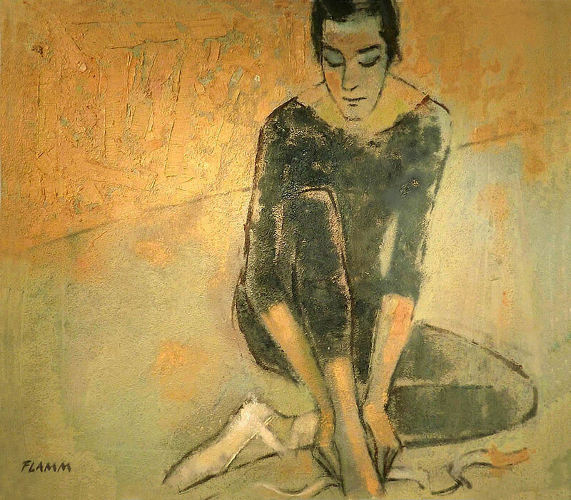 Oljemålning Intimacy / Intimitet, Ferenc Flamm