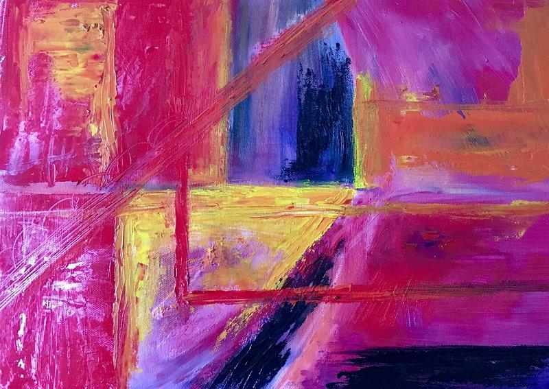 Oljemålning Komposition, Gunilla Tuvin