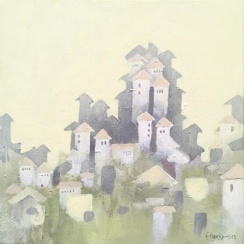 Lilla staden med tornen
