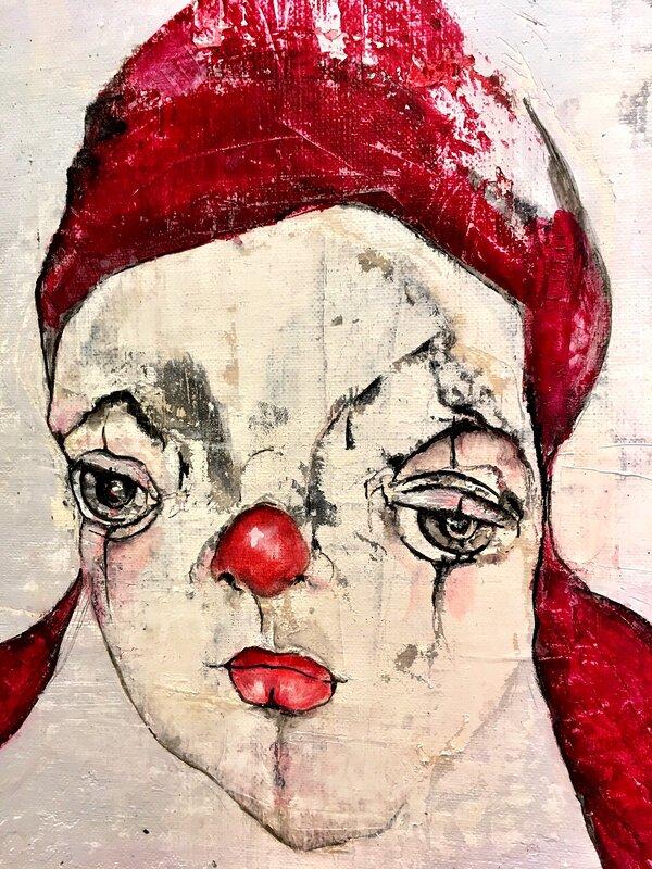 Clown röd mössa