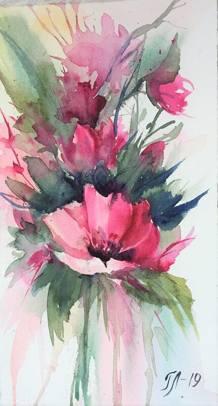Akvarell Elegance 2, Tanya Lundmark