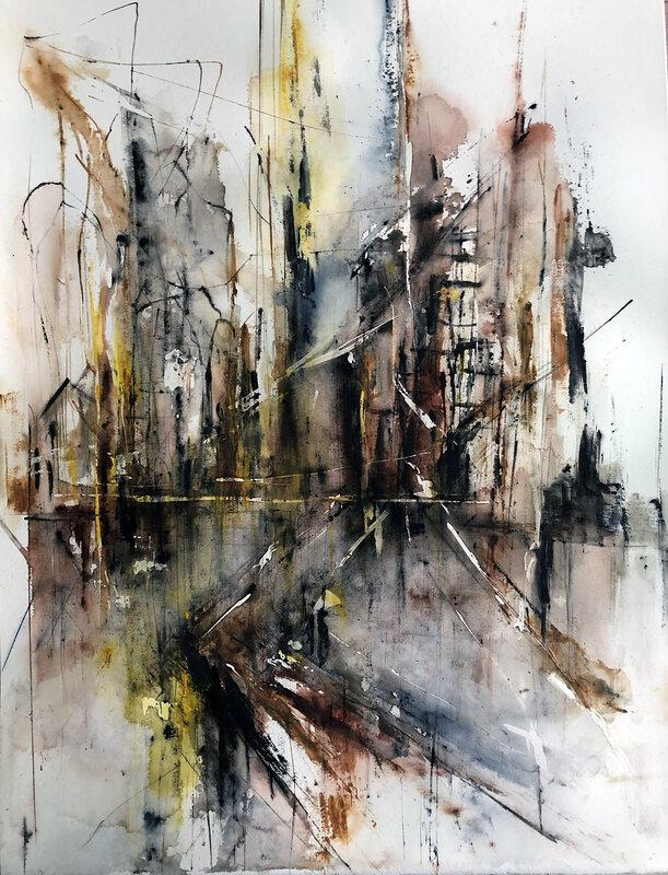 Akvarell Beginning or ending, Dana Ingesson