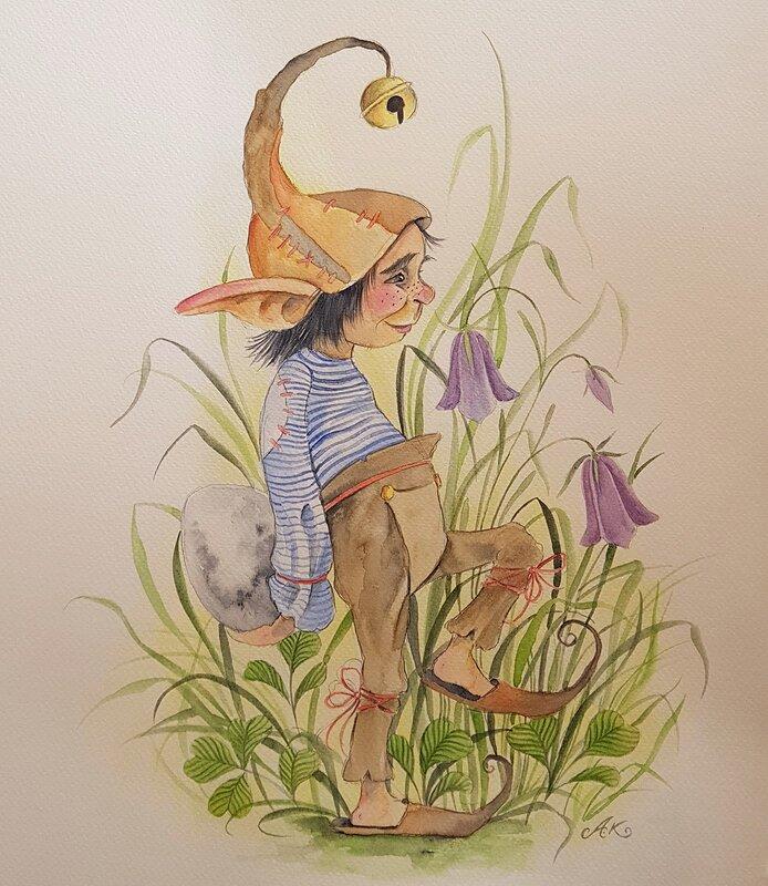 Akvarell Något värdefullt, Anna Komstadius